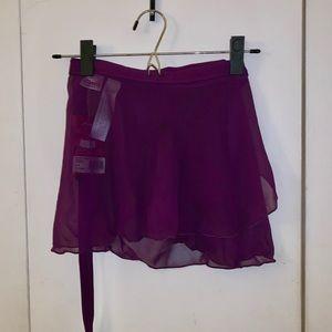Capezio Wrap Skirt - Aubergine